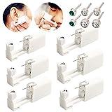 Einweg-Ohr-Piercingpistole mit Ohrsteckern, sicher und schmerzfrei, für Mädchen, Damen, Herren, 6 Stück