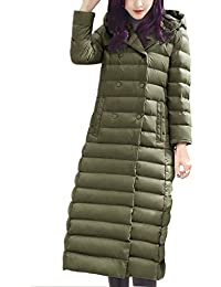 387924f76453 Gaorui Damen Lange Daunenjacke Mantel Jacke mit Kapuze unterhalb der Knie  Winter