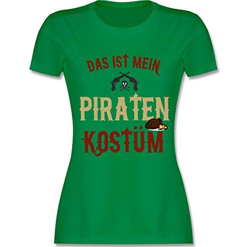 Karneval & Fasching - Das ist mein Piraten Kostüm - M - Grün - L191 - Damen T-Shirt (Grüne Piraten Kostüme)