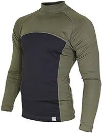 233edd3b Raptor Hunting Solutions Merino Wool Thermal Underwear Base Layer Top Long  Sleeve Shirt Green Black