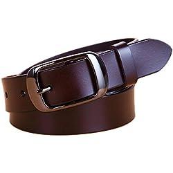 Oyccen Casual Mujer Cinturón de Cuero para Jeans Pantalones Señoras Hebilla Cinturones