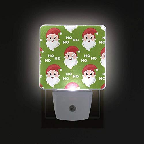 DFISKK Nachtlicht Christmas Santa Claus Ho 2 Pack 0.5W Plug-in LED Night Light Lamp with Dusk to Dawn Sensor, Night Home Decor Bed Lamp -