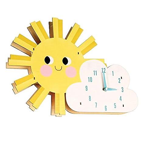 Hello Sunshine Wooden Wall Clock