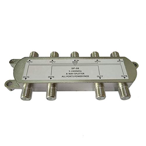 CloverGorge SP-08 8-Way Signal Satellite Splitter TV Aerial RF Coaxial Cable Splitter WholesaleHot - Low Loss Rf Splitter