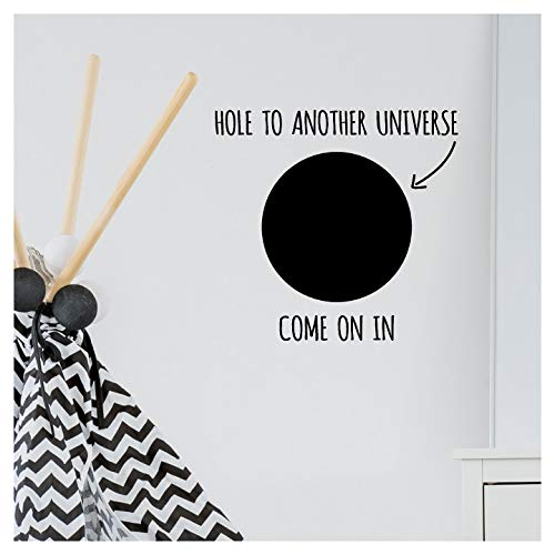 Wandtattoo to Another Universe Come On in, Vinyl Black, 16