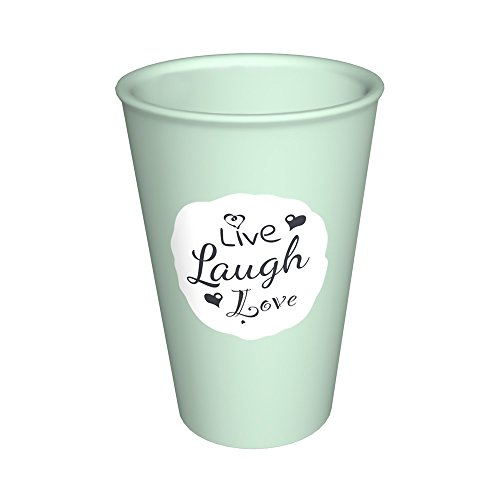 Ornamin Becher 400 ml Live, Laugh, Love mint (Modell 1210) / nachhaltiger Mehrweg-Becher Kunststoff