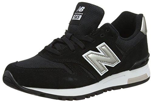 New Balance Damen WL565 Sneaker, Schwarz (Black/gold/WL565KGW), 40 EU (New Balance Schwarz Frauen)
