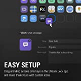 Corsair Elgato Stream Deck XL - Enhanced Stream Control with 32 Customizable LCD Keys for Windows 10 and MacOS 10.13 or Later