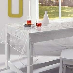 tischdecke wachstuch transparent pvc 150 x 240 k che haushalt. Black Bedroom Furniture Sets. Home Design Ideas