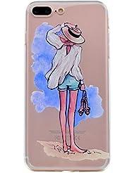 iPhone 7 Plus Coque, iPhone 7 Plus Housse, iPhone 7 Plus Etui,BONROY® Série d'été Ultra-Mince Thin Soft Silicone Etui de Protection pour Souple Gel TPU Bumper Poussiere Resistance Anti-Scratch Case Cover Couverture Pour iPhone 7 Plus - plage de sable