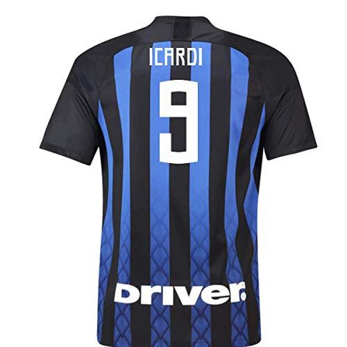 2018-19 Inter Milan Home Football Soccer T-Shirt Camiseta (Mauro Icardi 9) - Kids