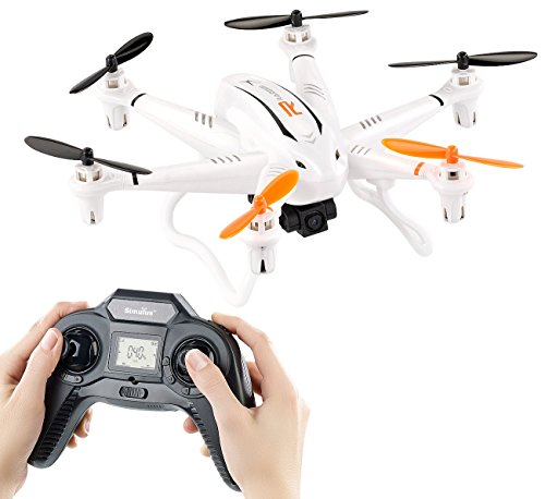 Simulus Drohnen: Kompakter Profi-Hexacopter GH-6.cam mit 720p-HD-Kamera (Multicopter)