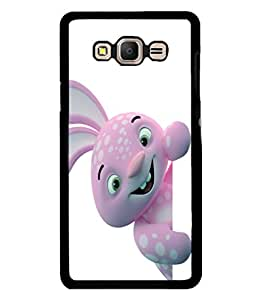 printtech Bunny Peek Cartoon Back Case Cover for Samsung Galaxy E7::Samsung Galaxy E7 E700F