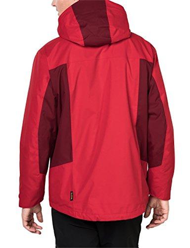Jack Wolfskin Herren North Border 3-in-1 Jacke ruby red