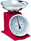 Hanson H500 Red 5kg Capacity Traditional Mechanical Kitchen Scale
