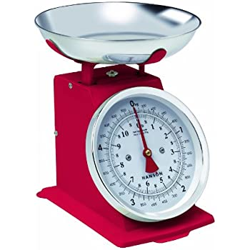 Hanson h500 red 5kg capacity traditional mechanical for Best kitchen scale for baking