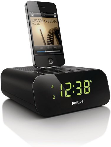 Philips AJ3270D/12 - Altavoz con puerto dock para Apple iPod/iPhone, negro