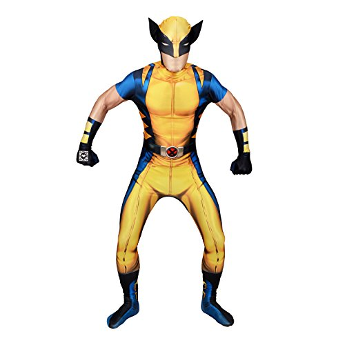 Morphsuits - Costume per Travestimento - Wolverine, colore multicolor (delux digital), taglia XL (176cm-185cm)