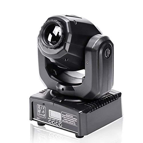 UKing 50W Moving Head LED Discolicht Partylicht DMX 512 RGBW Lichteffekte 8 Gobo 8 Farben 9/11 Kanäle für DJ Partybeleuchtung Licht