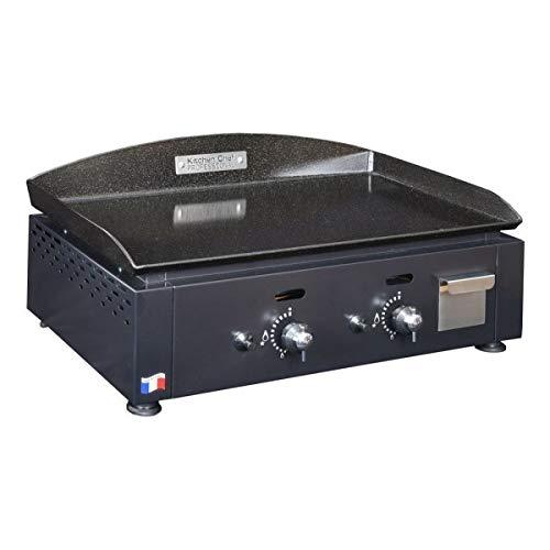 Kitchen chef kcp60g – Barbecue (5500 W, de contact, gaz naturel, table, fer à repasser, noir)