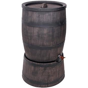 Ondis24 Eichenfass 120 Liter mit Standfuß Wasserfass Regentonne Wasserbehälter