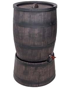wasserfass regentonne wasserbeh lter amphore eichenfass 120 liter mit st nder garten. Black Bedroom Furniture Sets. Home Design Ideas