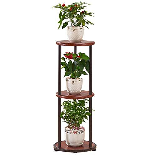 Support pour étagère à Fleurs Support pour Plante à Fleurs Support à Fleurs Échelle pour Plante Bonsaï en Bois et Fer Balcon Chambre à Coucher Bureau Salon Terrasse Taille 30x30x82 Cm (L xlx H)