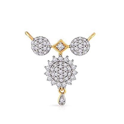 Malabar Gold and Diamonds 18 KT Yellow Gold and Solitaire Mangalsutra for Women