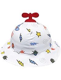QUICKLYLY Sombrero del Sol de Bebés con Ala Tipo de Pescador Algodón Gorro  de Aire Libre 41b163a48758