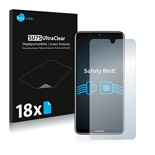 Savvies Schutzfolie kompatibel mit Gionee F9 (18 Stück) - ultraklare Bildschirmschutz-Folie