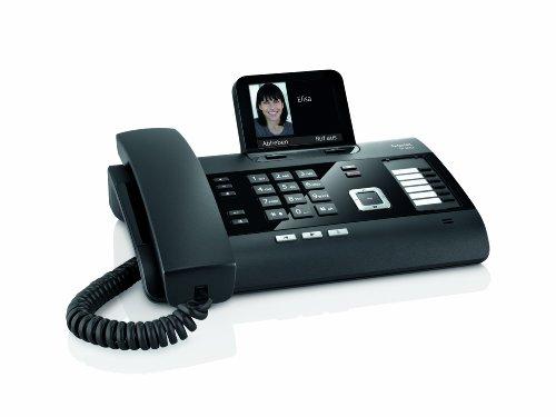 Gigaset DL500A Komfort Telefon -  Schnurgebundes Telefon / Schnurtelefon - Anrufbeantworter - Farbdisplay - Freisprechen / Dect Telefon - schwarz - 2