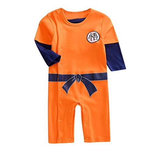 Overall Baby Sommer Neugeborenes Mädchen Junge Kind Cartoon gedruckt Langen Ärmeln Strampler Kostüm Outfits (Red Panda Baby Kostüm)