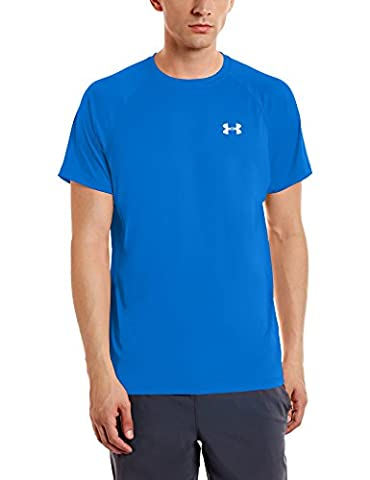 Under Armour Heatgear Run S/S T-shirt Courtes Homme, Blue Marker, FR : M (Taille Fabricant : MD)