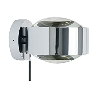 Puk Maxx Wall Plus Wandleuchte chrom glänzend - Leuchtenkopf Linse/Linse