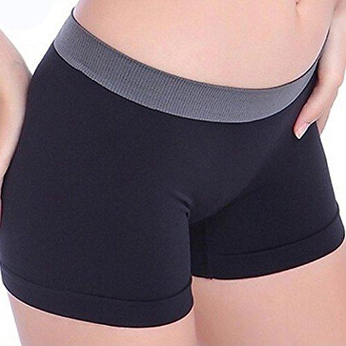 Pantalons courtsPour femme,Tonwalk Été Femmes Gym Fitness Workout Leggings Pantalons courts de yoga (Noir, Large)