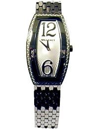 Milleret - 1200D11C161-11A - Diva - Montre Femme Acier - Quartz Analogique - Lunette 88 Diamants certifiés (0,44 ct) - Bracelet Acier