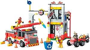 Mega Construx-GLK56 Helicóptero de Policia, Juguete de Bloques de construcción para niños + 5 años, Multicolor (Mattel GLK55)