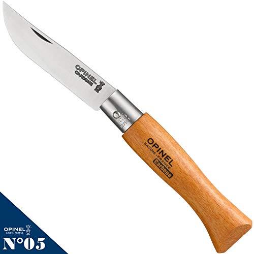 Opinel Couteau Fermants à lame en Carbone No. 5