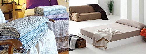 COLCHA MULTIUSOS FOULARD PLAID LISO MOD: TORROX para cama o sofá FABRICADO EN ESPAÑA (230_x_260_cm, GRIS)