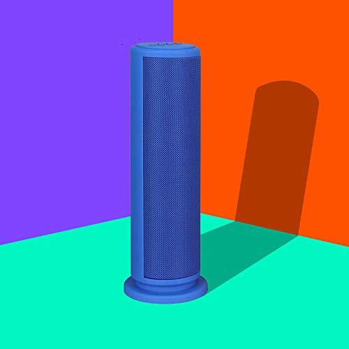 Zylindrische Mini-lampe (Zylindrische Karte Bluetooth-Lautsprecher-Paket im Freien Mini Bass Audio blau)