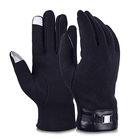 HENGSONG Touch Screen Gloves Winter Mittens Cold Weather Outdoor Full Finger Gloves For Men (Dark