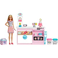 Barbie GFP59 Cake Decorating Playset with Blonde Doll, Baking Counter and Toy Icing Pieces, Multicolour