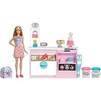 Barbie GFP59 Cake Design - Set da gioco per decorare la torta, Bambola Inclusa, Contatore di cottura, Accessori - parti di cottura, Giocattolo per Bambini 4+ Anni, Multicolore
