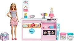 Idea Regalo - Barbie GFP59 Cake Design - Set da gioco per decorare la torta, Bambola Inclusa, Contatore di cottura, Accessori - parti di cottura, Giocattolo per Bambini 4+ Anni, Multicolore