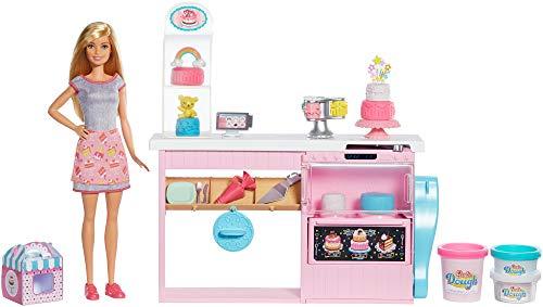 Barbie- Cake Design, Playset Pasticceria con Bambola Inclusa e Accessori Decorazione...