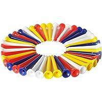 Mackur Golf Tees de plástico Golf uñas 8.3cm 100Unidades Color Aleatorio