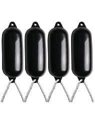4X Majoni Noir Bateau Ailes (Dégonflé)–Taille 4+ Gratuit Corde