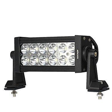 GANTA® Kkmoon 36w conduit voiture lumière de travail 6,3 pouces 2700lm spot barre pour jeep 4x4 hors route atv camion suv 12v 24v