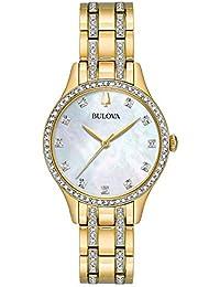 Bulova Womens Analogue Quartz Watch with Stainless Steel Strap 98X119