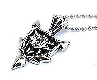 Epinki Stainless Steel Pendant Necklace, Mens Vintage Punk Rock Silver Black Sign Necklace